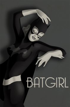 Bat Girl Art