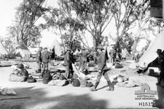 Tents being erected at the Blackboy Hill enlistment camp in the Perth hills, Western Australia, ready for the influx of men signing up for war in 1914 Man About Town, First Girl, Western Australia, Tents, Soldiers, World War, Camping, Life, Outdoor