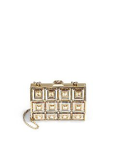 Judith Leiber Duchess Faceted Crystal Clutch