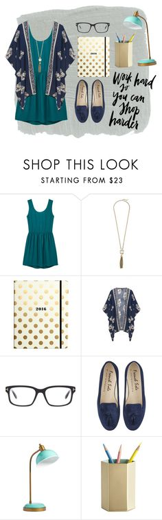 """""""Work Week Chic"""" by hfox4237 on Polyvore featuring MANGO, Cole Haan, Kate Spade, Tom Ford and PBteen"""