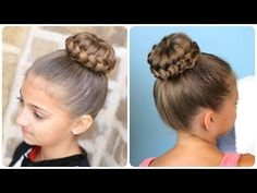 ▶ Lace Braided {Sophia Lucia} Bun | Updo Hairstyles - YouTube