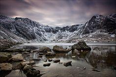 """'Half-Frozen' - Cwm Idwal, Snowdonia"" by Kris Williams | RedBubble"
