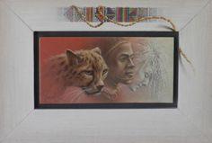 Poen de Wijs (1948 - 2014) African races I, olieverf, 20 x 10
