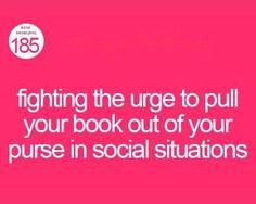 Social dilemma of a bookworm.