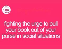 Social dilemma of a bookworm.