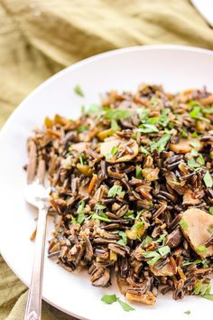 Easy and delicious Wild Rice Pilaf cooked to perfection in my Hamilton Beach Rice and Hot Cereal Cooker AND a giveaway! #hamiltonbeachricecooker ttp://amzn.to/2bhKDSA | lisasdinnertimedish.com