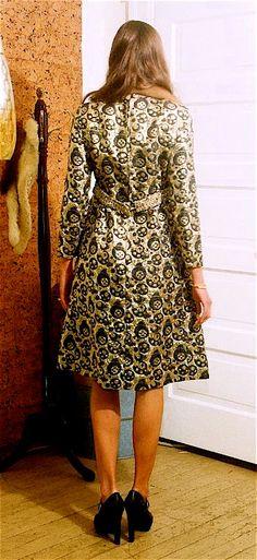 Op Art Metallic Brocade Dress. $68.00, via Etsy.