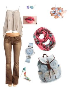"""Untitled #12"" by elena-dogaru on Polyvore featuring Sans Souci, Aéropostale, Christian Louboutin, Cozy by LuLu and OMEGA"