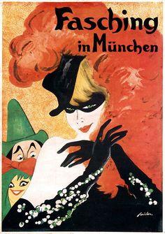 By Joseph A. Sailor(1872-1952), 1 9 3 0, Carnival in Munich.