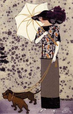 art deco by quenalbertini - Illustration by Mela Koehler-via allday...