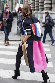 colorblock coat
