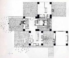 Adler House, Louis Kahn. Philadelphia, Pennsylvania, USA, 1954.