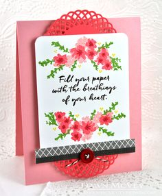 Breathings Of Your Heart Card by Dawn McVey for Papertrey Ink (July 2016)