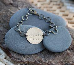 i choose love a hand stamped soul mantra bracelet by lizlamoreux