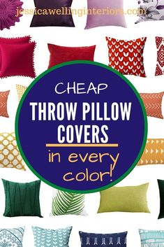 These cheap, colorful throw pillow cover are perfect for adding some modern boho style to your living room or bedroom decor! They have tassels, pompoms, tribal prints, florals, botanicals, and more! Navy Blue Throw Pillows, Colorful Throw Pillows, Floral Pillows, Cheap Throw Pillow Covers, Square Pillow Covers, Modern Boho, Tribal Prints, Boho Style, Florals