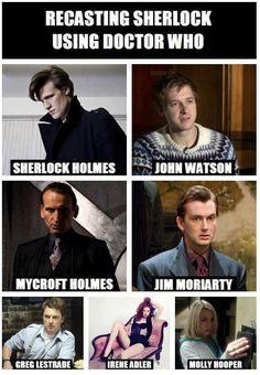 Recasting Sherlock using Doctor Who