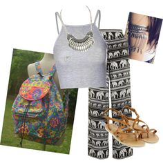 Boho girls by owlnightmare on Polyvore featuring polyvore fashion style Glamorous Motel Monsoon Gypsy Soul