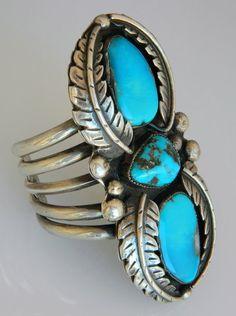 Spectacular 1950s Navajo Natural Turquoise bracelet