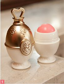 egg stand design cream cheek base from LADURÉE