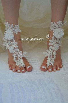 Shop for on Etsy, the place to express your creativity through the buying and selling of handmade and vintage goods. Sandals Wedding, Bridal Sandals, Nude Sandals, Bare Foot Sandals, Beach Shoes, Barefoot, Gloves, Ivory, Magazine