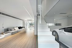 Situated in the suburban district of Hong Kong, this 4,600 square-feet house is a light, tranquil, yet stylish home.