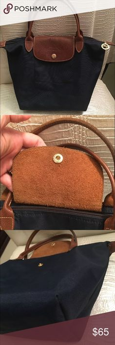 Longchamp Navy small les pliages tote In excellent condition, minor wear, no wear on corners Longchamp Bags Satchels