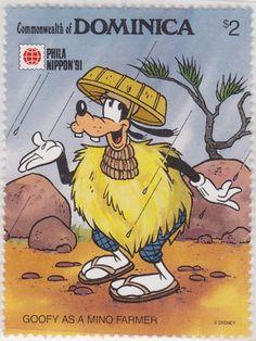 "Goofy vestido como granjero ""Phila Nippon '91"" 22/05/1991 Dominica"