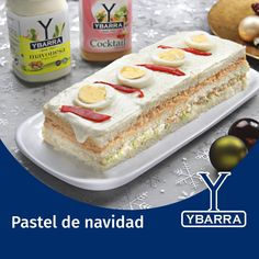 Recipe Christmas Cake with mayonnaise and Ybarra Cocktail - Ybarra in your kitchen - Oscar Wallin Christmas Appetizers, Christmas Desserts, Tapas, Cookie Recipes, Vegan Recipes, Catering, Panini Sandwiches, Special Recipes, Food Lists