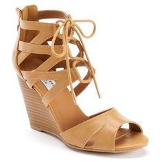 Chelsea &amp Zoe Alana Women&39s Strappy Lace-Up Wedge Sandals  Let&39s