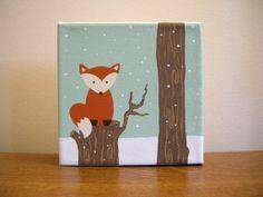 Original Artwork  Winter Fox  Acrylic by OhDeerIllustrations, $25.00