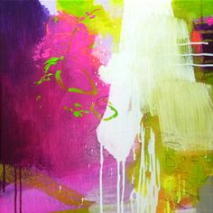 Original abstract painting, modern art, acrylic painting, paintings, pink lemon green neon magenta painting, canvas painting, art painting on Etsy, £80.28