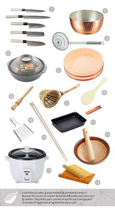 Cocina japonesa para principiantes. Utensilios básicos.