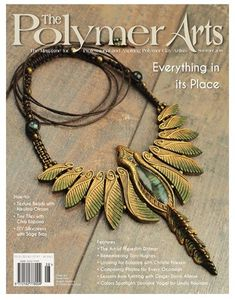 Summer issue cover of The Polymer Arts Magazine (www.ThePolymerArts.com), graced by the beautifully balanced jewelry of Dorata Kaszczyszyn.
