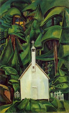 Emily Carr Indian Church 1929 oil on canvas, located in Art Gallery of Ontario Canadian Painters, Canadian Artists, Emily Carr Paintings, Dulwich Picture Gallery, Canada Landscape, Tom Thomson, Art Gallery Of Ontario, Group Of Seven, Post Impressionism