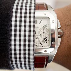 ' — Cartier Gentleman's Essentials Sharp Dressed Man, Well Dressed Men, Mode Masculine, Cool Watches, Watches For Men, Men's Watches, Cartier Santos 100 Xl, Mens Fashion Blog, Men's Fashion