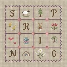 idea for spring cross stitch pattern Little Dove Designs - Spring cross stitch kit at Busy Lizzie Crafts
