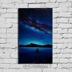 Milky Way painting Starry sky Oil painting on by ArtColorSpace