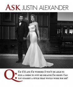 Ask Justin Alexander: How To Find a Dress For Petite Brides