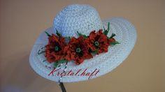 kapelusz z kwiatami maków z Foamirana