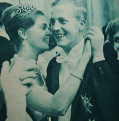 Princess Birgitta of Sweden, with her intended, Johann Georg, Prince of Hohenzollern. They married in July 1961.