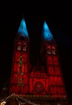 Dom Illumination - Laser-Licht-Show am Bremer Dom...