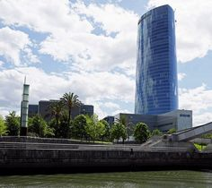 Bilbao Iberdrola Tower - the stunning building is the tallest skyscraper in Spain