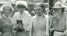 Frances Shand-Kydd (Diana's Mother), Lady Diana, Ruth Fermoy (Diana's Grandmother), Lady Sarah (Diana's Sister).