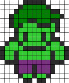 The Hulk Perler Bead Pattern | Bead Sprites | Characters Fuse Bead Patterns