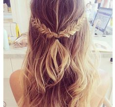 half up half down Braid #hair #hairstyle #longhair: