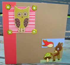 Owl Card, Awesome, Unique Jewelry, Handmade Gifts, Green, Cards, Etsy, Vintage, Kid Craft Gifts