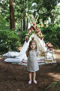 Living in a native american tent is a great idea for everyday and a fun activity for children.