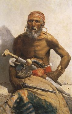 Arab Chief, Oil Painting by Mariano Fortuny y Marsal