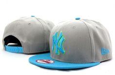 Casquette NY New York Yankees MLB Snapback Gris Bleu Casquette New Era Pas Cher