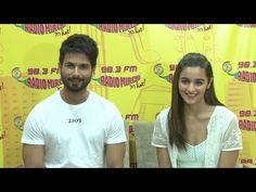 Shahid Kapoor & Alia Bhatt promotes UDTA PANJAB movie at Radio Mirchi 98.3 FM.